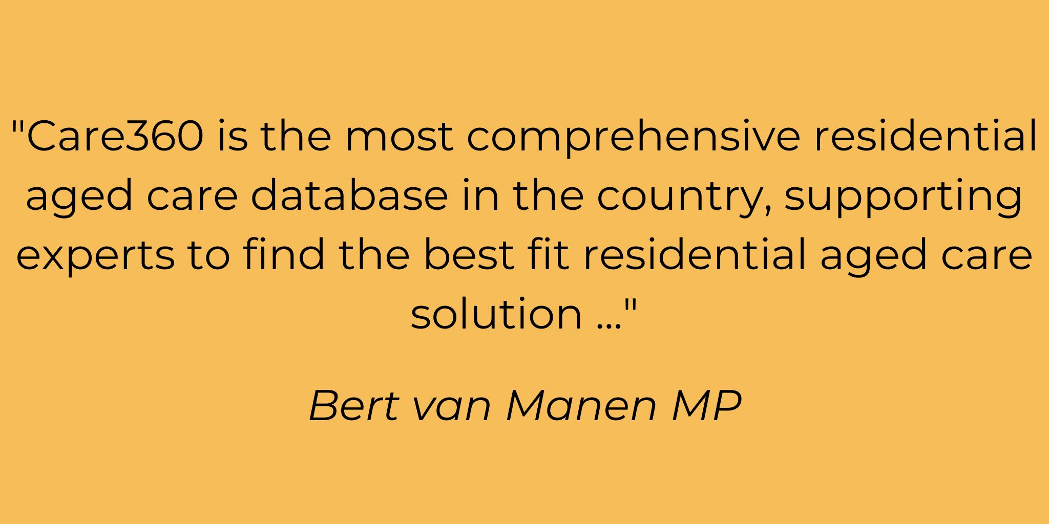 Testimonial Bert van Manen