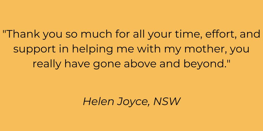 Testimonial Helen Joyce